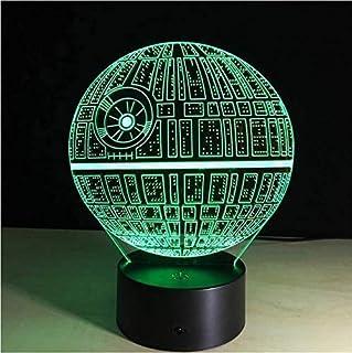 Illusion Night Light 3D Movie Wars Usb Led Lámpara De Dibujos Animados Star Colorful Ball Bulb Lava Night Lights Lighting Gifts