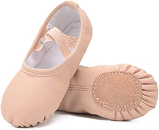 Leather Ballet Shoes for Girls/Toddlers/Kids/Women, Full Sole Leather Ballet Slippers/Dance Shoes
