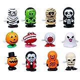 Egosy Juguete mecánico de Halloween Juguete de bobinado de Elemento de Halloween para niños Juguete pequeño de Fiesta de Regalo de 12 Piezas