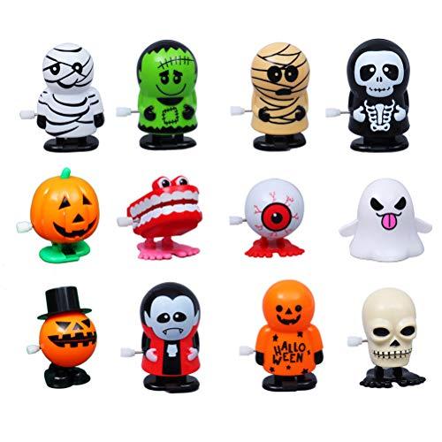WINBST Halloween Uhrwerk Spielzeug Halloween Element Aufziehspielzeug für Kinder 12 Stück Spielzeug als Mitgebsel und Preis beim Kindergeburtstag