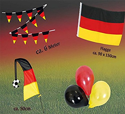 KarnevalsTeufel Fan Set, 4-TLG. Deutschland, EM, WM, Fußballparty, Germany, Fanartikel