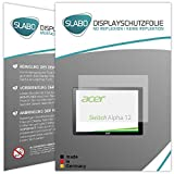 Slabo 2 x Protector de Pantalla para Acer Switch Alpha 12 lámina Protectora de Pantalla No Reflexion | No Reflexiones Mate