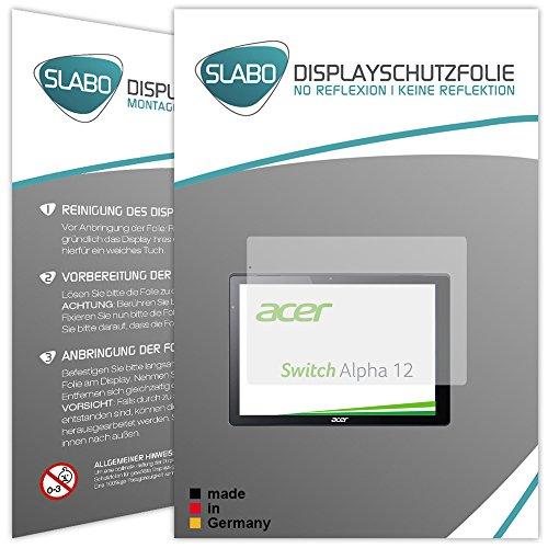 Slabo 2 x Bildschirmschutzfolie für Acer Switch Alpha 12 Bildschirmschutz Schutzfolie Folie No Reflexion   Keine Reflektion MATT