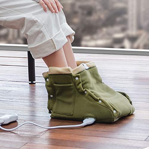 LYHD Calientapiés, Calefacción Eléctrica para Pies 5 Niveles de Temperatura, Desconexión Automática, Protección contra Sobrecalentamiento, Lavable Talla de Zapatos hasta