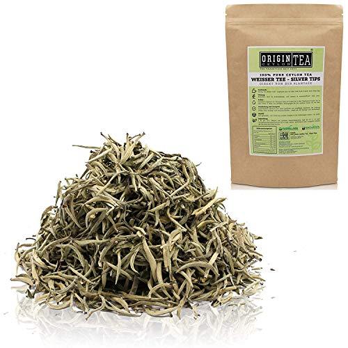 Origin Ceylon Tea 100g (150 Tassen) Bester Weißer Tee - Silver Tips Direkt von der Plantage aus Sri Lanka