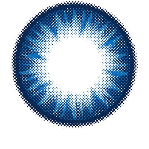 Matlens - Pro Trend Farbige Kontaktlinsen mit Stärke Bella PC-222 blau blue 2 Linsen 1 Kontaktlinsenbehälter 1 Pflegemittel 50ml