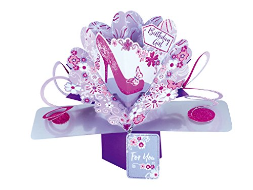 Suki Gifts POP140 Pop Up Grusskarte, Schuh/Geburtstag, mehrfarbig
