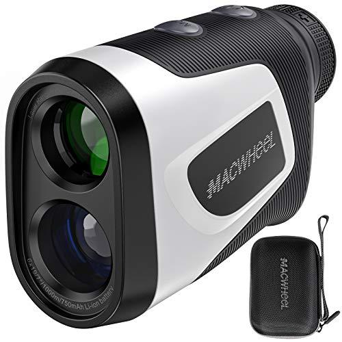 Macwheel Golf Rangefinder, 1000 Yards Laser Range Finder with Slope,USB Charging, Flag-Lock Tech with Vibration, Distance/Speed/Angle Measurement Range Finder