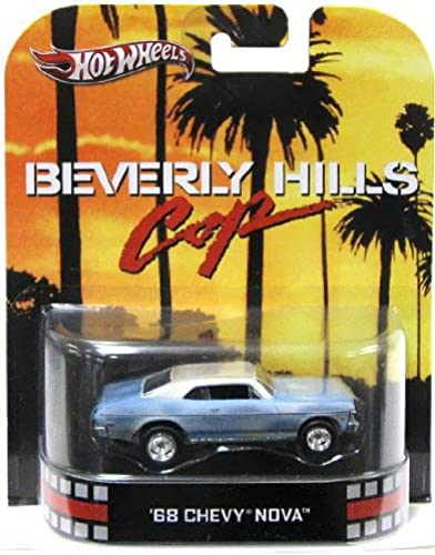 Hot Wheels Retro Beverly Hills Cop 1 55 Die Cast Car '68 Chevy Nova by Mattel (English Manual)