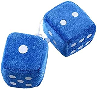 TREGIA 1 Pair Cute Fuzzy Dice Dots Rear View Mirror Hangers Vintage Decoration Car Auto Universal Styling Accessories 4 Colors Must-Have 7 Year Old Girl Gifts The Favourite Comic 5T Superhero Girls