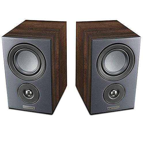 Mission LX Series Bookshelf Speaker Hifi HD Stereo Surround Speaker (Pair) Lx-1 nogal