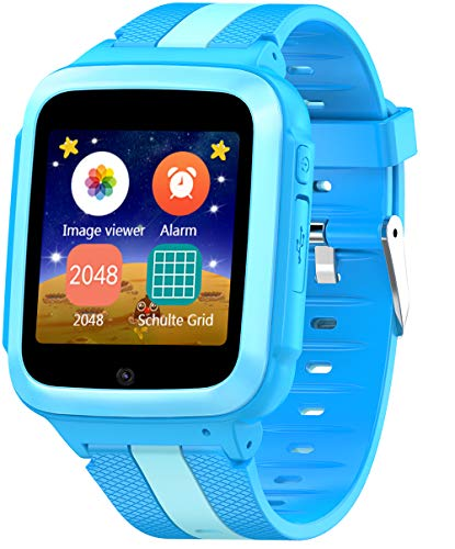 DanCoTek Smart Watch for Kids Boys Girls Unlocked 2G GSM Two Way Phone Call SOS Call Touchscreen Front Camera Games Learning Numbers (Blue)