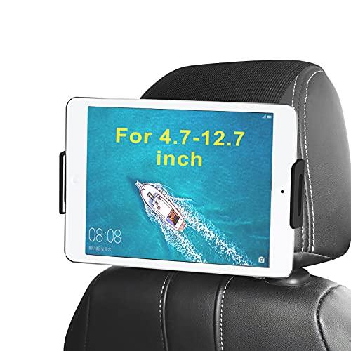 Porta Tablet da Auto, Arozxin Supporto Tablet Auto Poggiatesta, Supporto Tablet per Auto Rotazione a 360 Gradi, Supporto per iPhone, iPad Pro, Cellulare, Fire HD, Tab(Tutti 4.7-12.9 pollici)