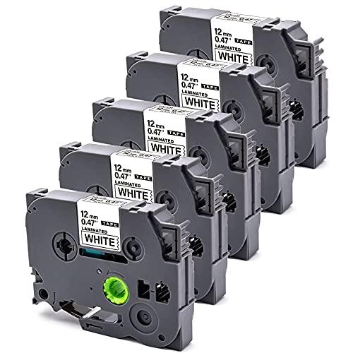 B-T 5x Kompatible Schriftband als Ersatz für Brother TZe-231 TZ231 TZ-231 Tze Schriftbänder für Brother P-Touch P300BT Cube PT 1000 H107B E110 H101C H200 1080 D400 E500VP H105 D600VP H100R