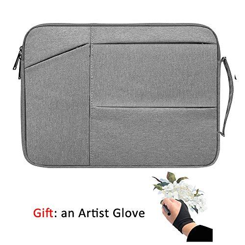 Funda protectora para tablet de dibujo de gráficos compatible con Wacom Intuos Pro Small PTH451 Medium PTH660, bolsa de almacenamiento impermeable, bolsa portátil de viaje con guante de artista