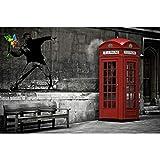 GREAT ART Fototapete – Love is in The Air Banksy –