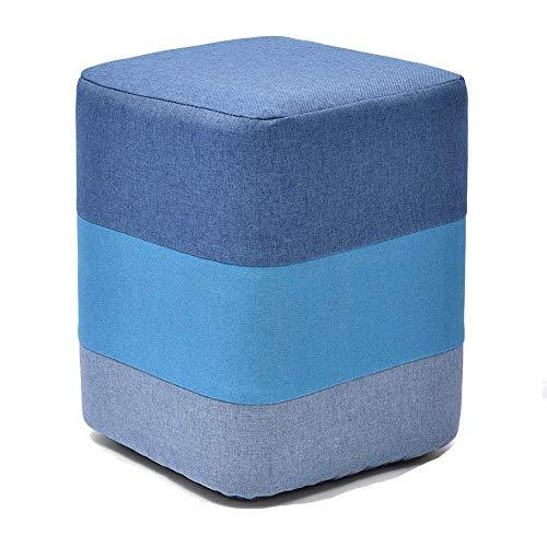 MYS-Bar stool C-K-P Éponge élastique Haute carrée de Conception de Cadre de pin de ménage de Pouf, Incidence de 100kg, 29x29x35cm