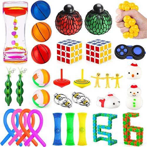 Mibote 36 Pcs Fidget Toys Set Sensory Fidget Toys Bundle for Kids Adults Stress Relief and Anti product image