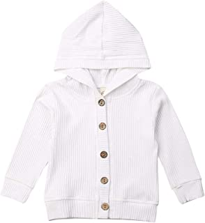 Infant Baby Girl Button Down Knitwear Long Sleeve Soft Basic Knit Snap Jacket Cardigan Sweater Coat Top Clothes