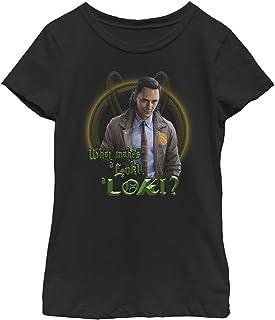 Marvel (TV Show Makes Loki Girl's Solid Crew Tee