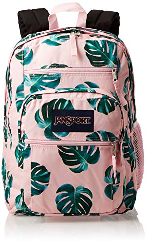 JanSport Big Student Backpack - 15-inch Laptop School Pack, Monstera Leaves