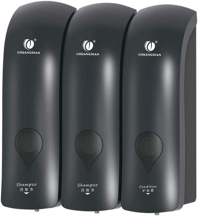 WWWRL Three Chamber Soap Special sale item Dispenser Bo Shampoo 900ml Wall-Mounted quality assurance