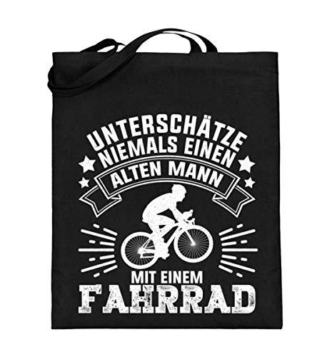 Chorchester Für Alte Männer mit Fahrrad - Jutebeutel (mit langen Henkeln)