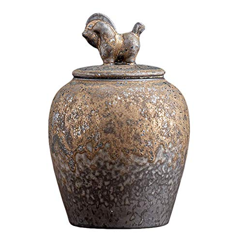 YYhkeby Keepsake Urns Ashes Small Handicrafts Ceramics Funeral Pet Urn for Memorials Decorative Urns Display Burial at Home Or Office Decor Jialele