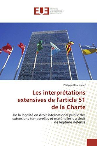 Les interprétations extensives de l'article 51 de la Charte PDF Books
