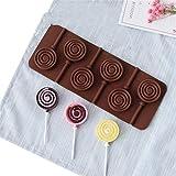JHFGHJ Lollipop 007 - Molde de silicona reutilizable para caramelos, tartas, bombones, gelatinas