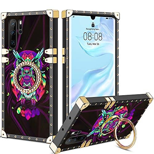 Vunake Huawei P30 Pro Hülle,Glitzer Case Cover und 360 Grad Ring Stand Handyhülle Schutzhülle Fingergriff Kompatibel mit Magnetische Autohalterung Stoßfest für Huawei P30 Pro