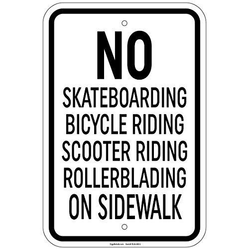 HSSS Geen Skateboards Fietsen Scooter Rollerblades 8x12 Inch Aluminium Tekenen