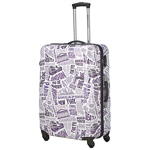 American Tourister , Valigia , 25 white/purple (Bianco) - 76A25104