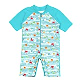 i play. by green sprouts Baby Boys Sunsuit, Light Aqua Sea...