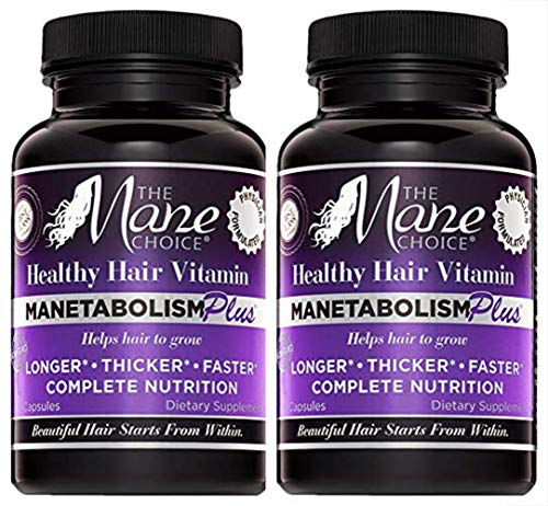 THE MANE CHOICE - MANETABOLISM PLUS: Healthy Hair Growth Vitamins (60 Capsules - Pack of 2)