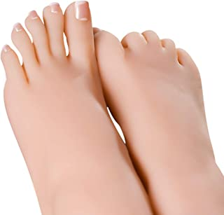 Minaky Silicone Female Foot Model Mannequin Display Sketch Fetishism Nail (Single) (3700, with Nail)