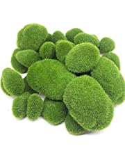 Luntus 30個、3サイズ人工苔岩装飾、緑色苔玉、フラワーアレンジメントガーデンとクラフト用