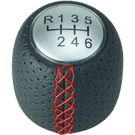 Sinnper 6 Schaltknauf Leder Schaltknauf Schaltknauf Schaltknauf Schaltknopf Ersatz Und Haube Für Alfa Romeo 159 05 11 Brera Spider Rot Baumarkt