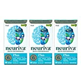 NEURIVA Plus Brain Performance (30 Count), Brain Support Supplement with Clinically Proven Natural Ingredients 1 ea (Pack of 3)