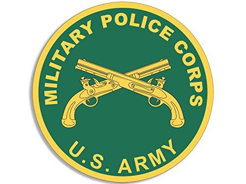 American Vinyl Round US Army Military Police Corps Seal Sticker (mp Logo Guns)