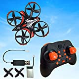 Mini Quadcopter Drone for Kids or Adults - 6 Year Old Gift Micro Interactive Hand Sensing Drone, Remote Control Helicopter Headless Mode 3D Flip One Key Return (Black) (Multicolor 1)