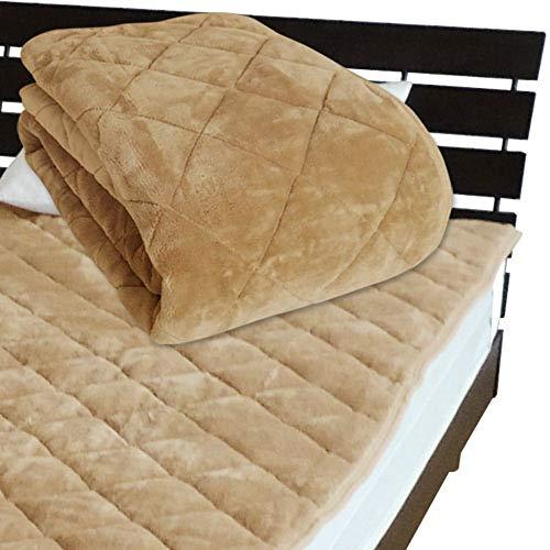 敷パッド ベッドパッド シーツ メーカー直販 とろけるような肌触り ふわふわ敷きパッド クイーン 160×205cm キャメル