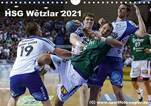 HSG Wetzlar - Handball Bundesliga 2021 (Wandkalender 2021 DIN A4 quer)
