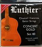 Luthier Lot de 40Concert or Cordes en nylon pour guitare classique