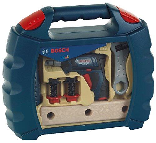 Theo Klein 8262 - Bosch Workcase mit Akkuschrauber, profiline blau, Spielzeug