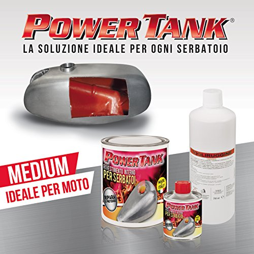 Lux Metal Power Tank Trattamento ripara, rigenera e Protegge Serbatoi Moto - Kit Medium - 700 Grammi