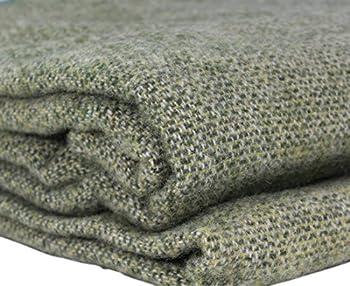 Biddy Murphy Queen Blanket 100% Soft Lambswool 90  Long x 109  Wide Traditionally Woven in Co Kerry Ireland