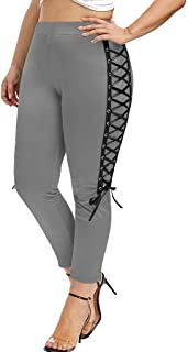 LInkay Damen Hose, Leggings mit Verband LäSsig Solide Yoga-Hose Sport LäSsige KnöChellange Hose Übergröße XL-5XL Strumpfhose Mode 2019