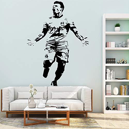 jiushivr DIY Aguero fútbol Pegatinas de Pared Autoadhesivas Papel Tapiz de Arte, decoración de la habitación del bebé para niños extraíble Pared Decorativa D 43x59cm