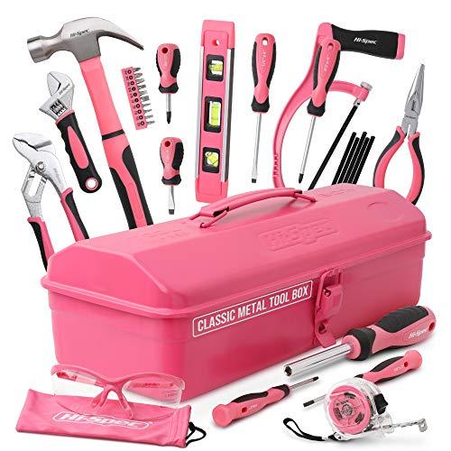 Hi-Spec Retro Pink Rosa Werkzeugkiste...
